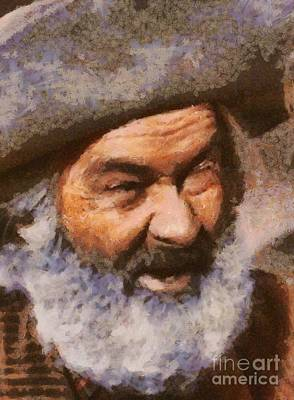 George Gabby Hayes, Vintage Western Legend Art Print by Mary Bassett