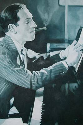 George Gershwin 1930s. Print by Kevin Hopkins
