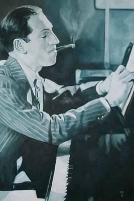 George Gershwin 1930s. Art Print by Kevin Hopkins
