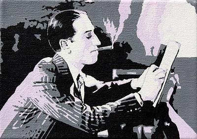 George Gershwin Composing Art Print by Sheri Buchheit