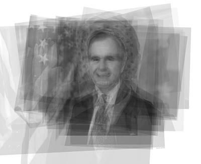 George Bush Digital Art - George H. W. Bush by Steve Socha