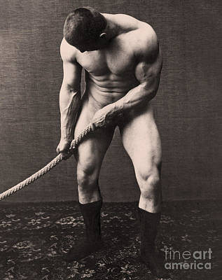 Karl Photograph - George Hackenschmidt by English School
