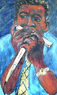 Painting - George Harmonica Smith by Todd  Peterson