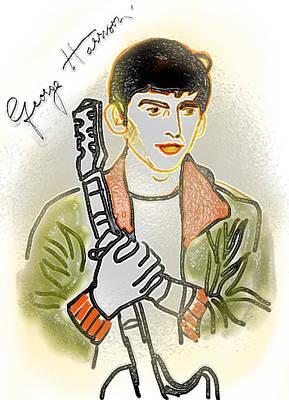 George Harrison - 3 Art Print by GooDaCool Gallery