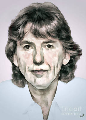 Painting -  George Harrison 01 by Sergey Lukashin