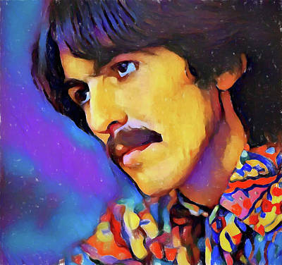 Music Paintings - George Harrison by Dan Sproul