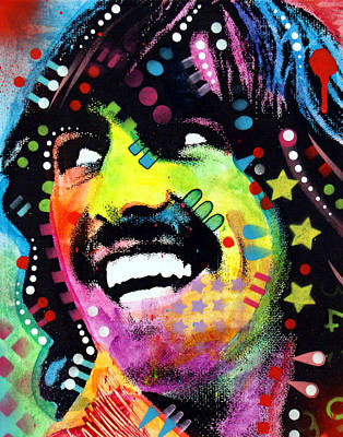 John Lennon Wall Art - Painting - George Harrison by Dean Russo
