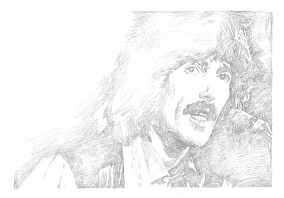 Starkey Drawing - George Harrison by Irakli Jorjadze