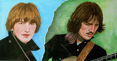 Lennon Mixed Media - George Harrison by Lacey Fox