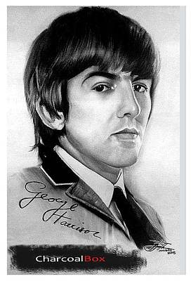 Fab Four Drawing - George Harrison by Mean Mustard