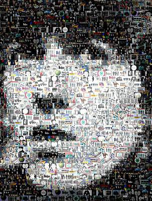 Paul Mccartney Mixed Media - George Harrison Mosaic by Paul Van Scott