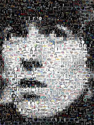 George Harrison Mosaic Art Print by Paul Van Scott