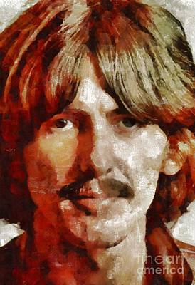 Musicians Royalty Free Images - George Harrison, Musician Royalty-Free Image by Esoterica Art Agency