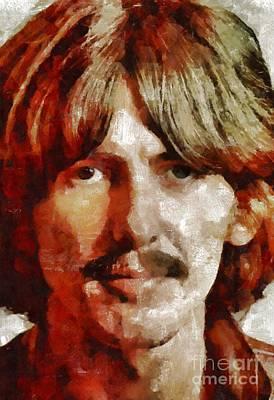 George Harrison, Musician Art Print