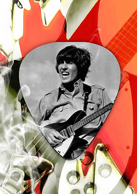 Mixed Media - George Harrison The Beatles Art by Marvin Blaine