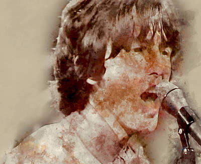 Mixed Media - George Harrison The Beatles by Marvin Blaine