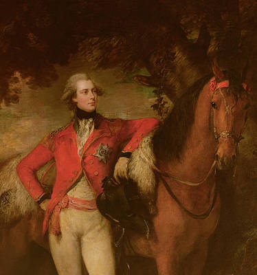 Hanoverian Painting - George Iv As Prince Of Wales by Thomas Gainsborough