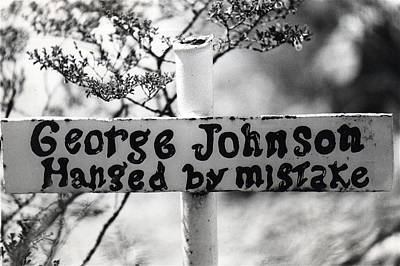 Achieving Royalty Free Images - George Johnson grave Boothill Cemetery Tombstone Arizona 1967 Royalty-Free Image by David Lee Guss