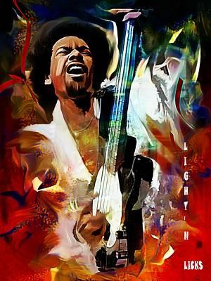 Micheal Digital Art - George Johnson by Lynda Payton