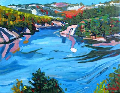 Phil The Forecaster Painting - George Lake West Basin by Phil Chadwick