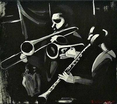 Painting - George Lewis Jazz Band Visions by Kerin Beard