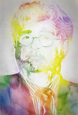 George Lucas Art Print by Dan Sproul