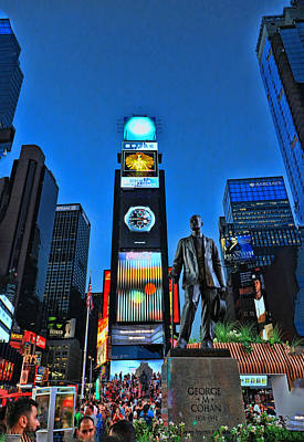 Photograph - George M. Cohan Statue # 1 by Allen Beatty