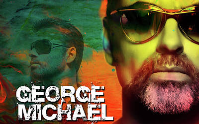 Digital Art - George Michael by Greg Sharpe