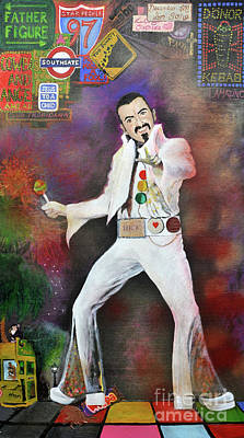 Painting - George Michael Gentlemen And Ladies by Michelle Deyna-Hayward