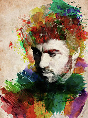 Digital Art - George Michael  by Mihaela Pater