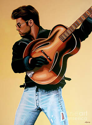 Concert Painting - George Michael Painting by Paul Meijering