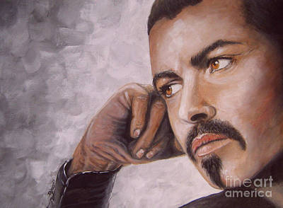 Painting - George Michael Careless Whisper by Patrice Torrillo