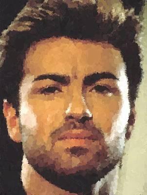 Painting - George Michael Portrait by Samuel Majcen