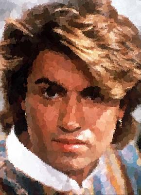 Painting - George Michael by Samuel Majcen