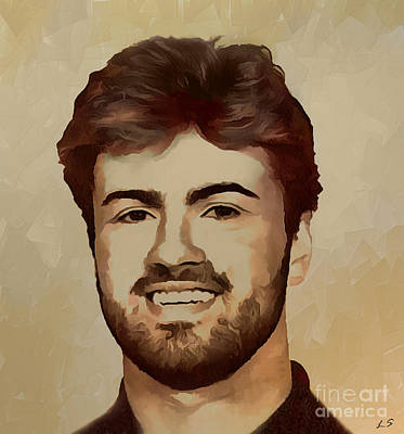 Painting - George Michael by Sergey Lukashin