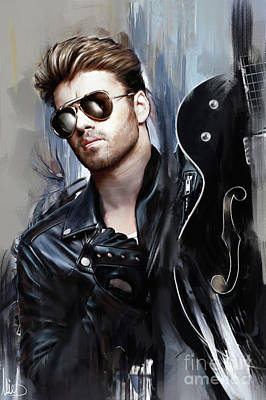 Elton John Wall Art - Painting - George Michael Singer by Melanie D