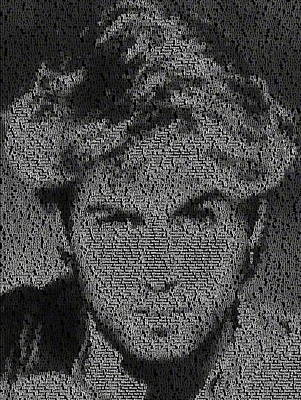 Photograph - George Michael Song List Mosaic by Paul Van Scott