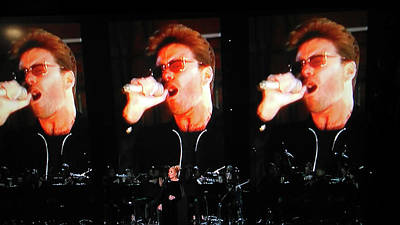 Photograph - George Michael The Passionate Performer by Toni Hopper
