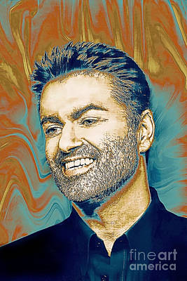 Painting - George Michael - Tribute  by Ian Gledhill