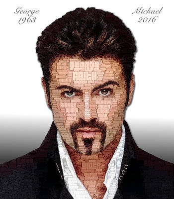 Digital Art - George Michael Tribute by ISAW Gallery