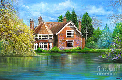 Painting - George Michaels Estate In Goring,england by Patrice Torrillo