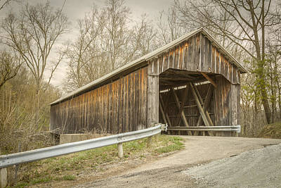 Covered Bridge Photograph - George Miller Covered Bridge  by Jack R Perry