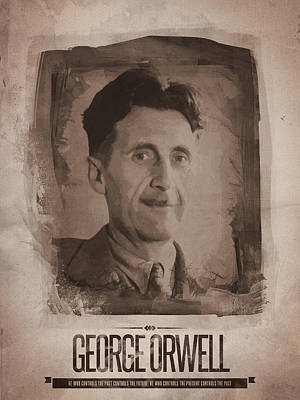 Quotation Digital Art - George Orwell 02 by Afterdarkness