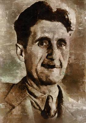 Dracula Painting - George Orwell Author by Mary Bassett
