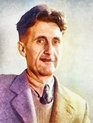1984 Painting - George Orwell, Writer by Frank Falcon