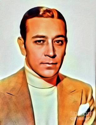 Musicians Royalty Free Images - George Raft, Vintage Actor. Digital Art by MB Royalty-Free Image by Mary Bassett