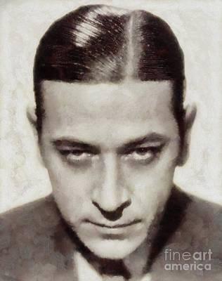 Musicians Royalty Free Images - George Raft, Vintage Actor Royalty-Free Image by Sarah Kirk