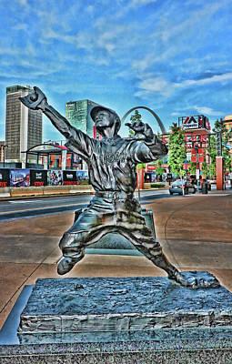 Photograph - George Sisler Statue # 2 - Busch Stadium by Allen Beatty