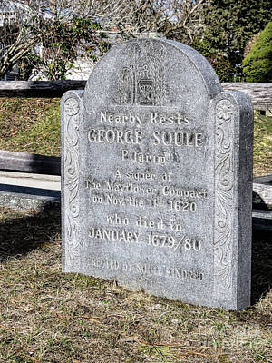 Photograph - George Soule Gravesite by Janice Drew
