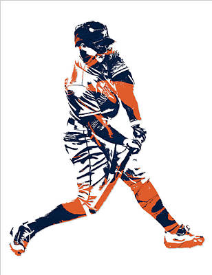 George Springer Houston Astros Pixel Art 3 Art Print